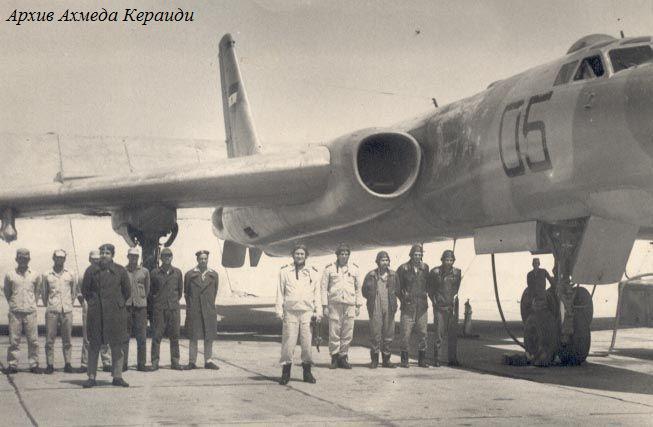 """Экипаж ракетоносца Ту-16К-11-16 №4405 на авиабазе Каир-Вест через год после """"октябрьской войны"""""""